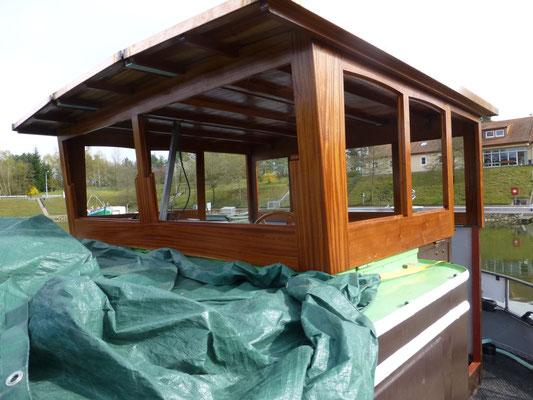 Wände und Dach fertig aufgebaut
