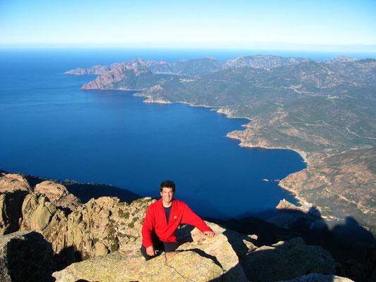 Au sommet du Capu d'ortu (Corse)