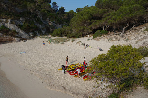 Kayak de mer à Macarelleta (Minorque)