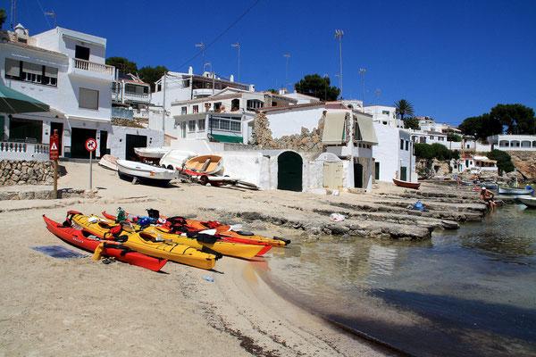Kayak de mer à Alcafar (Minorque)