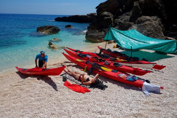 Kayak de mer Sardaigne