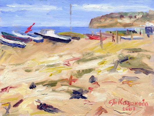 Татьяна Казакова. Опустевший пляж