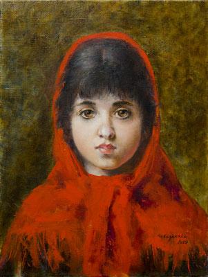 Татьяна Казакова. Красная шаль (по картине А. Харламова)
