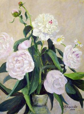 Татьяна Казакова. Розовые пионы