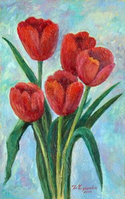 Татьяна Казакова. Алые тюльпаны