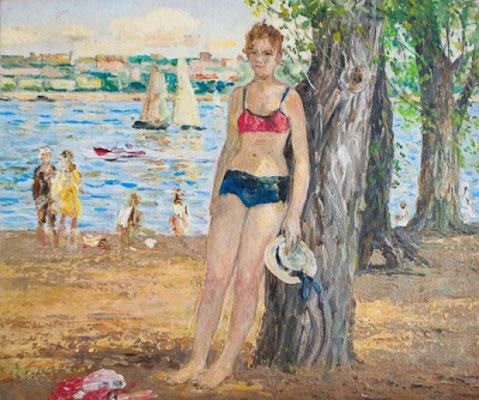 Венир Кныжов. Летний день, 29,5х35,5 см, 1970.