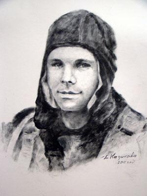 Татьяна Казакова. Гагарин в лётном шлеме