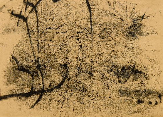Татьяна Казакова. За золотым руном. 2012 год. Крафт бумага, монотипия. 21х29 см. Цена - 2000 руб.