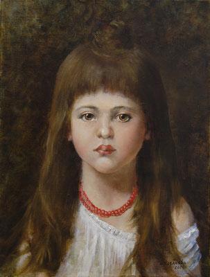 Татьяна Казакова. Красные бусы (по картине А. Харламова)