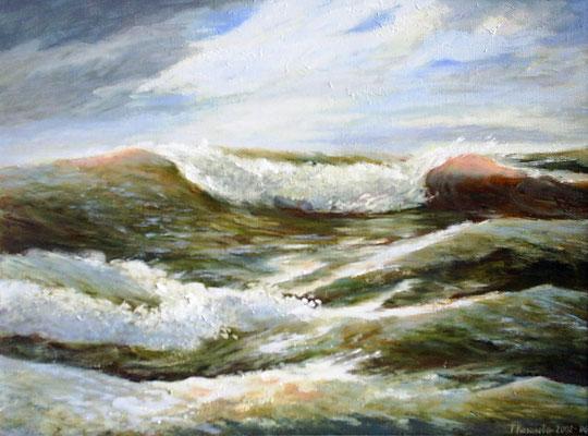 Татьяна Казакова. На гребне волны. 2006 год Холст, масло 35х45 см  Цена - 7900 руб.