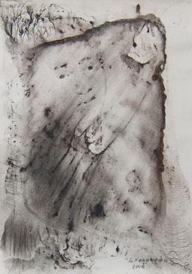 Татьяна Казакова. Зеркало. 2010 год. Бумага акварельная, соус. 29х21 см. Цена - 1500 руб.
