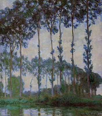 Клод Моне, Тополя на берегу Эпт, 1891