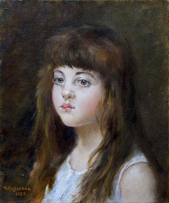Татьяна Казакова. Малышка (по картине Алексея Харламова)