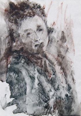 Татьяна Казакова. Если б не было... 2010 год. Бумага писчая, соус. 29х20 см. Цена - 1500 руб.