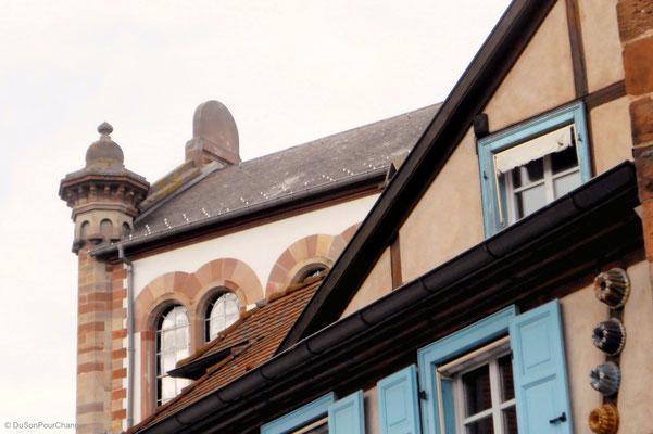 Synagogue, colombages et moules à Kougelhopf, à Obernai