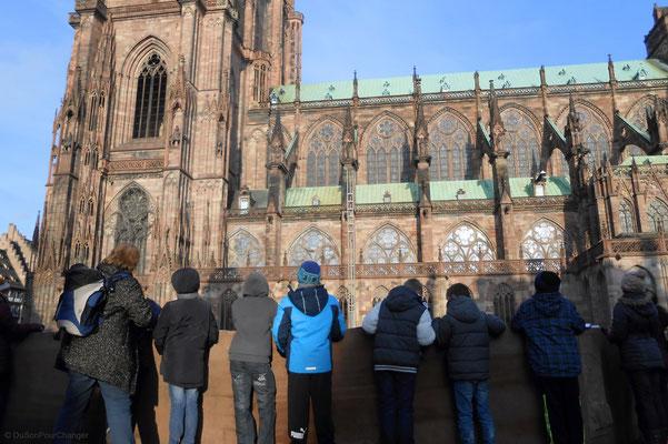 Croquis de Cathédrale, devant l'Oeuvre Notre-Dame (Strasbourg)