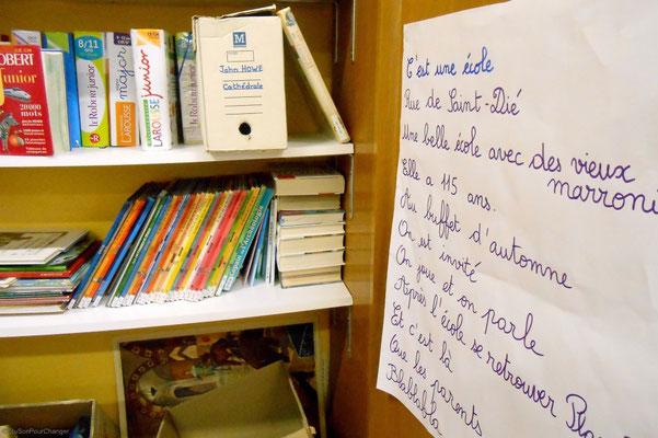 Dans les armoires de l'école, il y a...