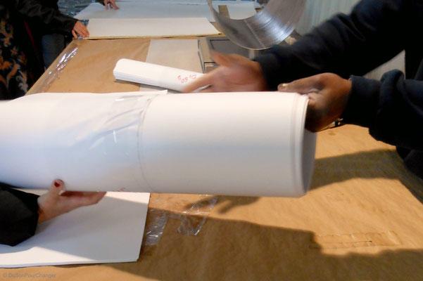 De la main des faiseurs de papier, chez Lana, à la Robertsau (Strasbourg Nord)