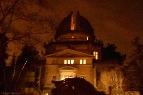 Coupole ouverte, l'observatoire astronomique de Strasbourg