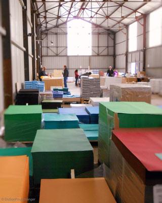 Dans le magasin d'usine de la papeterie Lana, à la Robertsau (Strasbourg Nord)