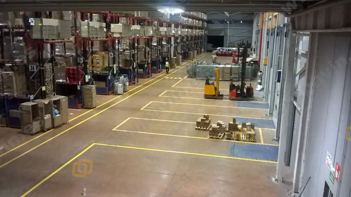 Signalisation industrielle de la chaussée dans l'entreprise par Grupo Pavin