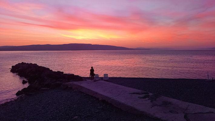 Sonnenuntergang über den Inseln