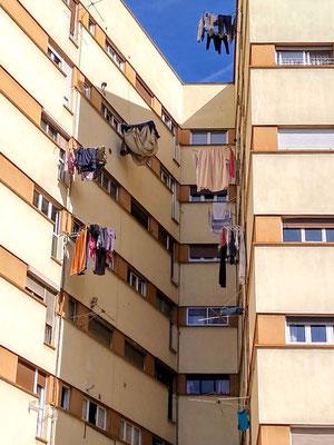 ich bin immer wieder fasziniert von dem Erfindungsreichtum der Südländer zum Wäsche aufhängen