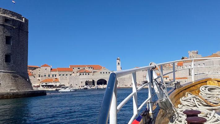 eine tolle Annäherung an Dubrovnik vom Meer aus