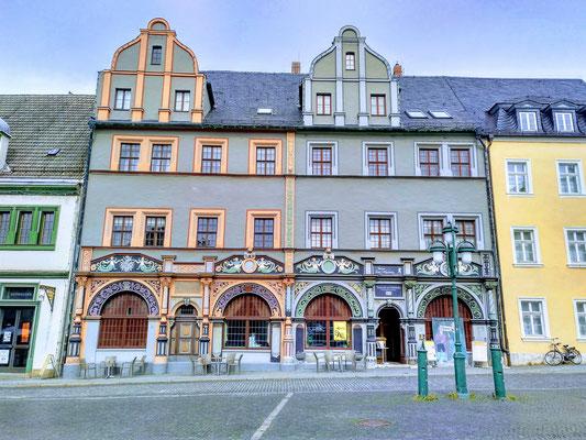 schöne Häuser in der Innenstadt
