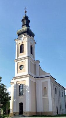 die Maria-Magdalena-Kirche, erbaut 1773 mit Dachkonstruktion von 1895