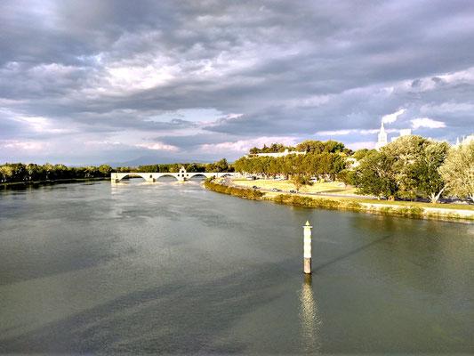 die alte Brücke von der neuen aus fotografiert
