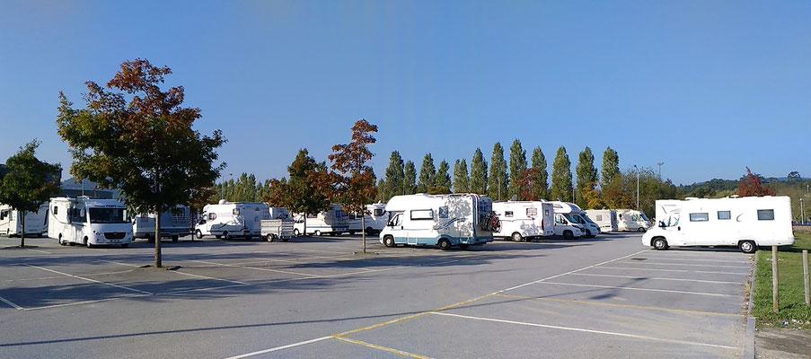 Parkplatz an normalen Tagen