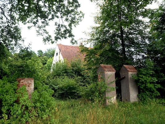 ein zugewachsenes Anwesen im Dorf