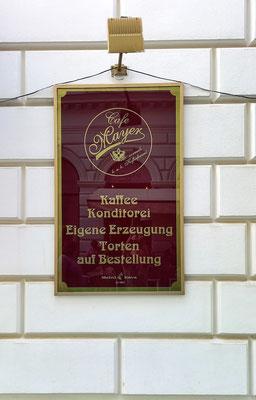 leider konnte ich im Café Mayer nicht die Sachertorte probieren, am Samstagnachmittag war geschlossen