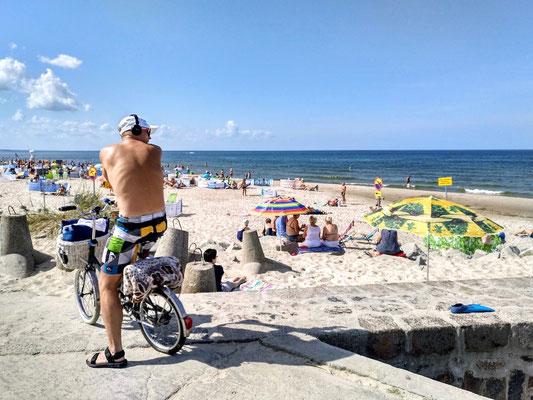 Strand von Darlowko, nicht nur wir betrachten ihn von oben
