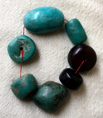 Berber necklace with amazonite-pearls