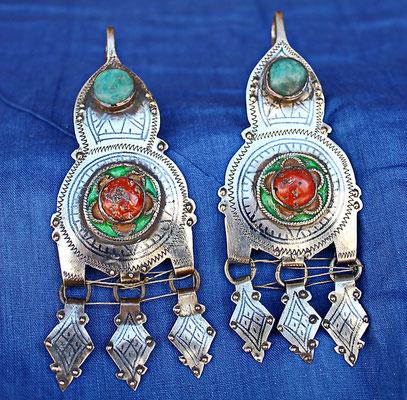 Boucles d'oreilles berbères  anciennes, Tafraout,