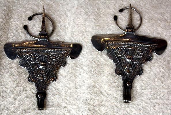"""Fibel aus Essaouira, genannt """"Fibule bélier"""", Widder-Fibel, wegen der Form eines Widderkopfs"""