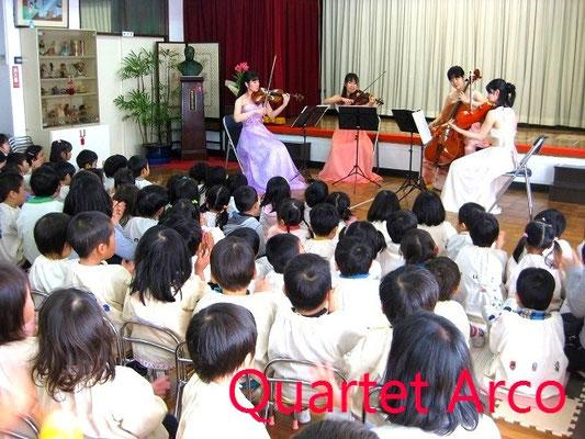 幼稚園への出張コンサート♪