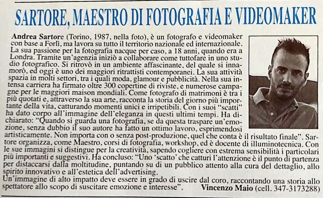 INTERVIEWED BY  L'ATTUALITA'