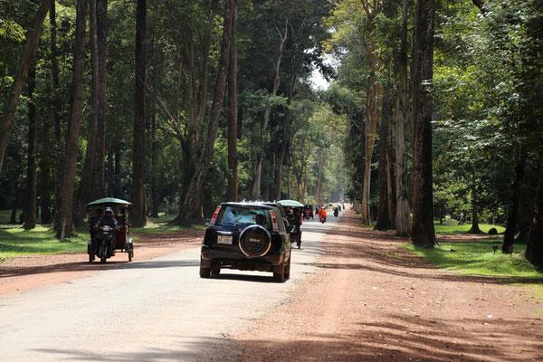 Les routes sur le site d'Angkor