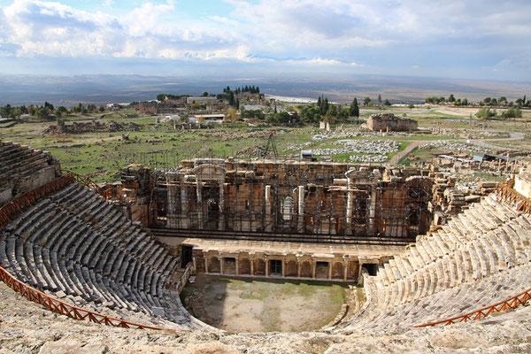 Pamukkale - ruines de la vieille ville