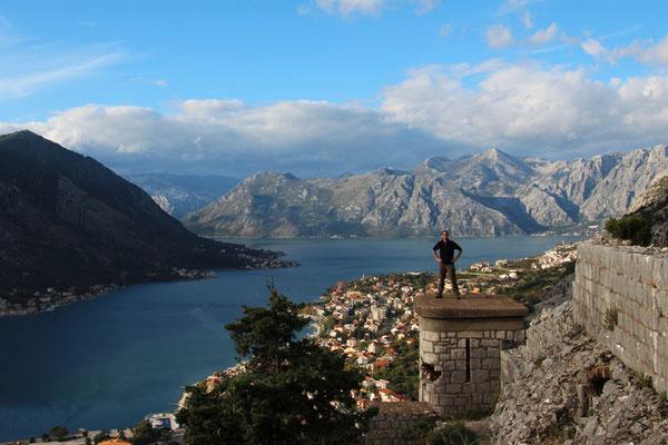 sur la forteresse de Kotor