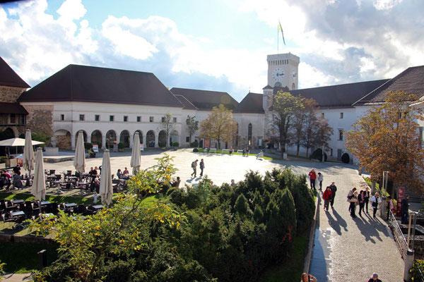 La cour du château de Ljubljana