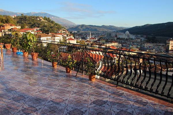 Terasse de notre Guest House à Berat