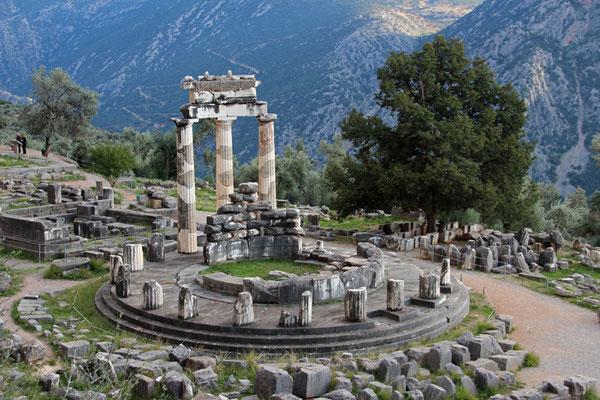 Ruines du Temple d'Athéna à Delphes