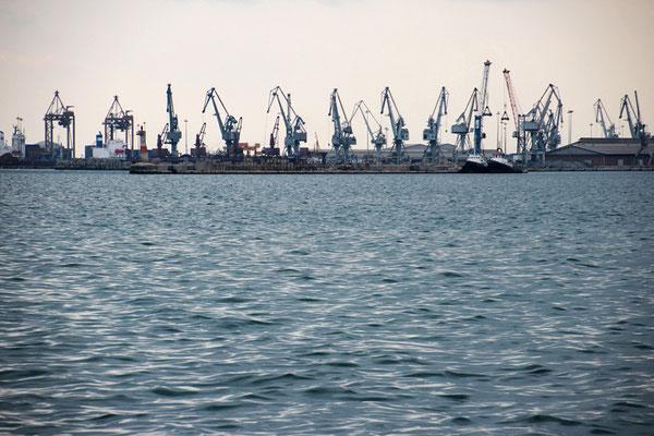 Le port marchand de Thessaloniki