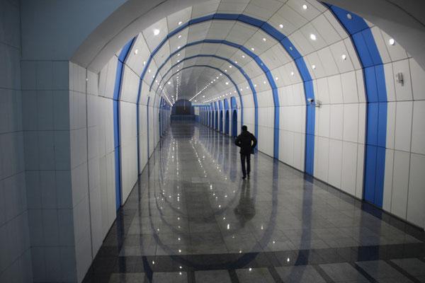 Le métro d'Almaty, peu usité pour le moins qu'on puisse dire