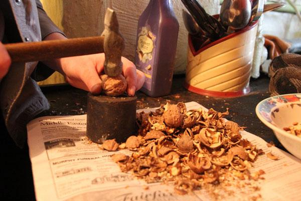 Préparation d'une spécialité, à base de noix et de caramel, miam!