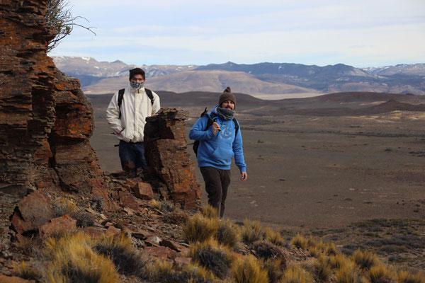 José et Ismael, à la recherche de dinosaure
